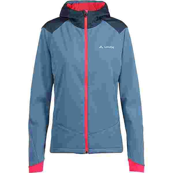 VAUDE Women's Qimsa Softshell Jacket Fahrradjacke Damen blue gray
