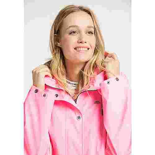 Schmuddelwedda Regenmantel Damen neon pink