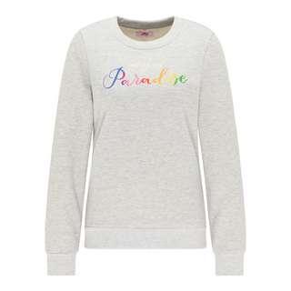 MYMO Sweatshirt Damen Grau Melange