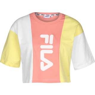 FILA Bai Cropped T-Shirt Damen gelb/pink/weiß