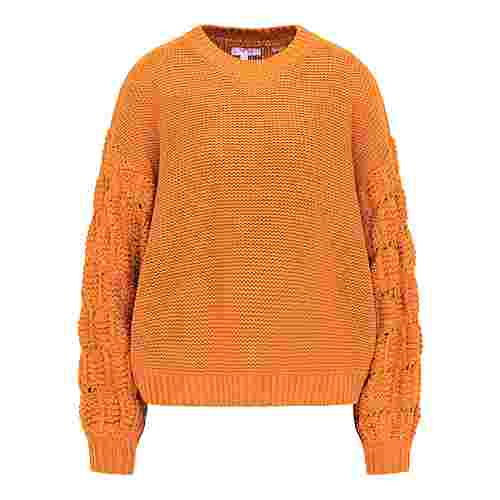 MYMO Strickpullover Damen orange