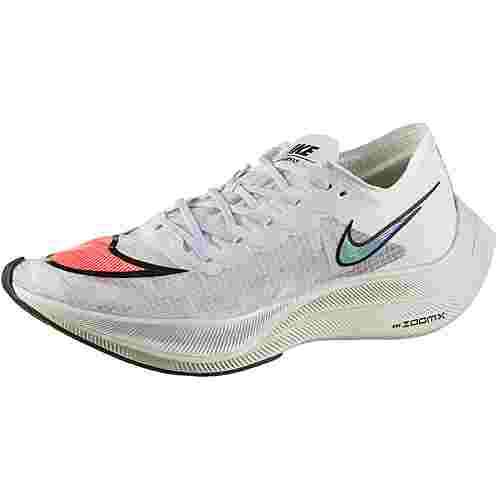 Nike ZOOMX VAPORFLY NEXT% Laufschuhe white-flash crimson-black-hyper jade