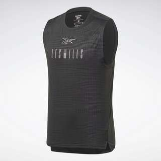 Reebok LES MILLS® SmartVent Sleeveless Shirt Tanktop Herren Schwarz