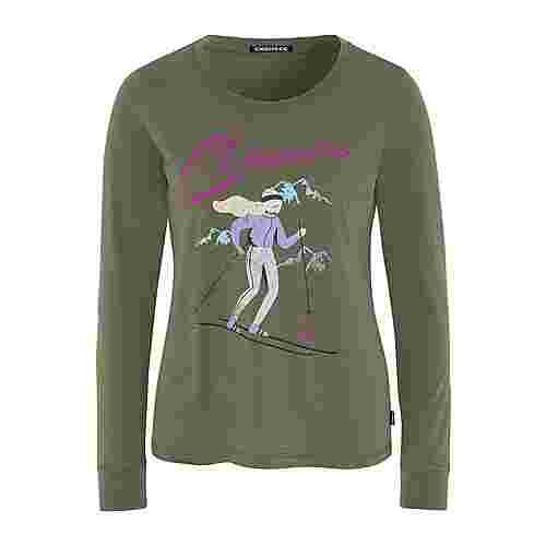 Chiemsee T-Shirt Langarmshirt Damen Dusty Olive