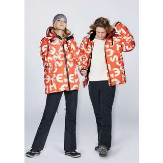 Chiemsee Skijacke Skijacke Orange/Wht AOP