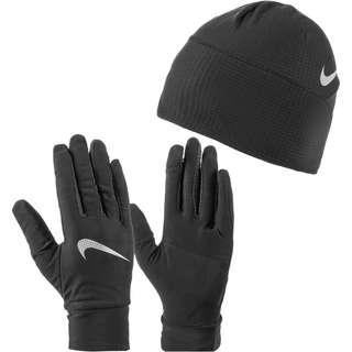 Nike Set Mütze und Handschuhe Herren black-silver