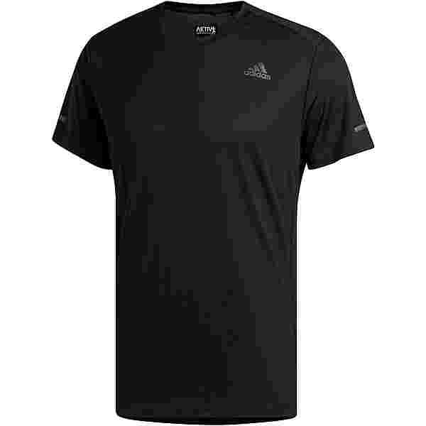 adidas Run It Response Aeroready Funktionsshirt Herren black