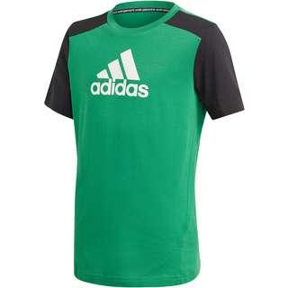 adidas FUTURE ICONS T-Shirt Kinder core green-black-white