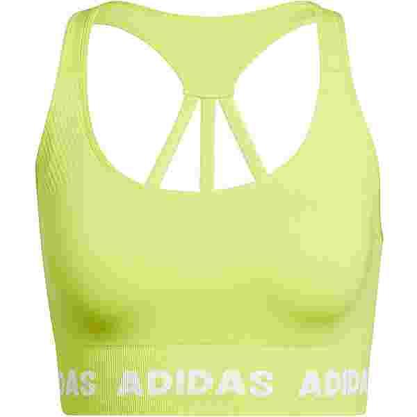 adidas DESIGNED4TRAINING AEROKNIT BH Damen acid yellow