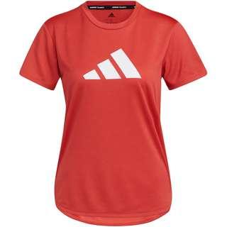 adidas DESIGNED4TRAINING AEROREADY Funktionsshirt Damen crew red-white