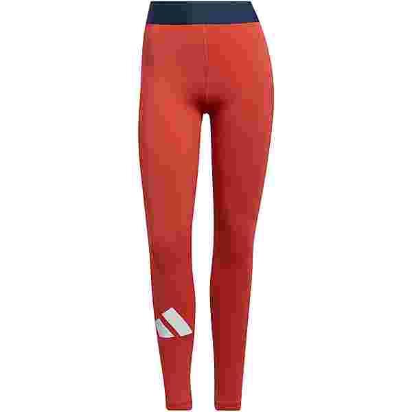adidas ADILIFE TECH-FIT AEROREADY Tights Damen crew red-black-white