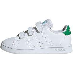 adidas ADVANTAGE Sneaker Kinder ftwr white/green/grey two