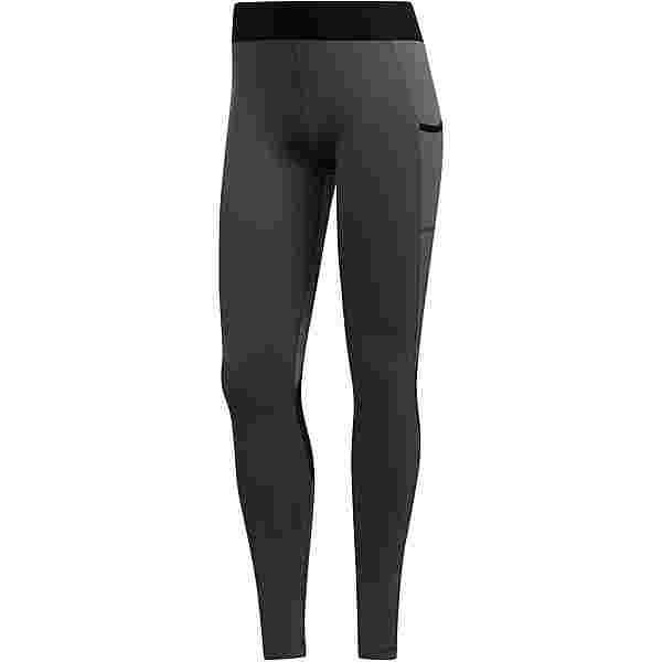 adidas TECH-FIT AEROREADY Tights Damen dark grey heather
