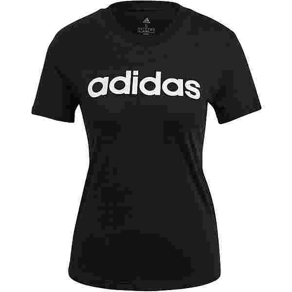 adidas LINEAR SPORT ESSENTIALS T-Shirt Damen black-white