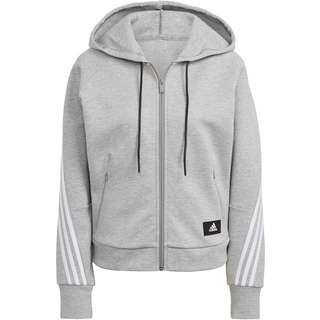 adidas 3-STRIPES SPORT MUST HAVES ENHANCED Sweatjacke Damen medium grey heather-white