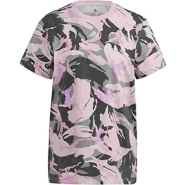 adidas CAMOUFLAGE SPORT ESSENTIALS T-Shirt Damen mgh solid grey-clear pink-white