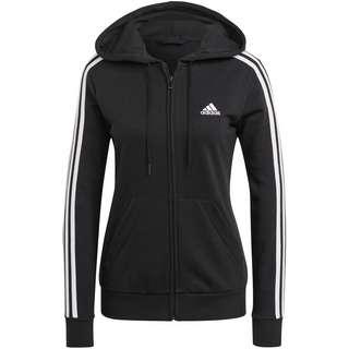 adidas 3-STRIPES SPORT ESSENTIALS Sweatjacke Damen black-white