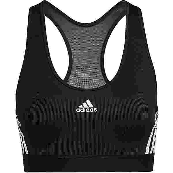 adidas BELIEVE THIS 3-STRIPES RIBBEDAEROREADY BH Damen black-white