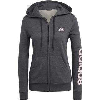 adidas LINEAR SPORT ESSENTIALS Sweatjacke Damen dark grey heather-clear pink