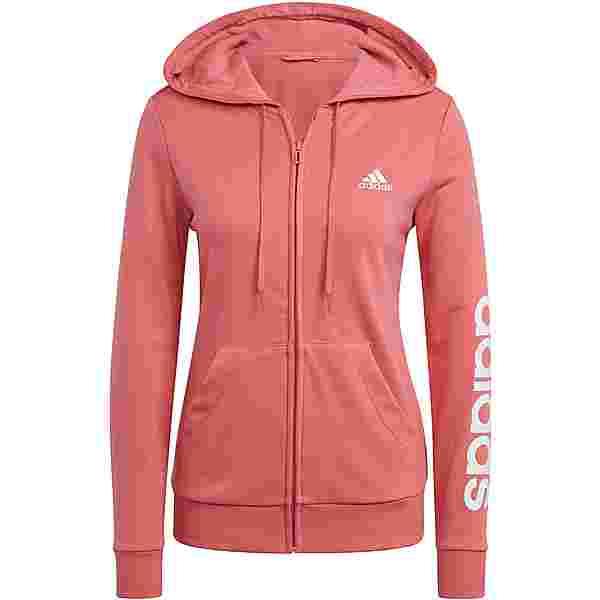 adidas LINEAR SPORT ESSENTIALS Sweatjacke Damen hazy rose-white