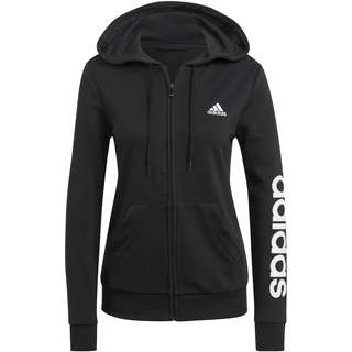 adidas LINEAR SPORT ESSENTIALS Sweatjacke Damen black-white