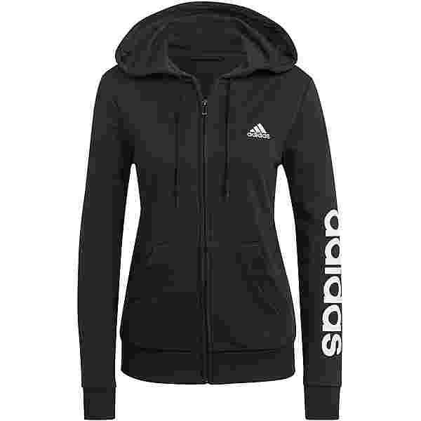 adidas LINEAR SPORT ESSENTIALS Sweatjacke Damen black-white
