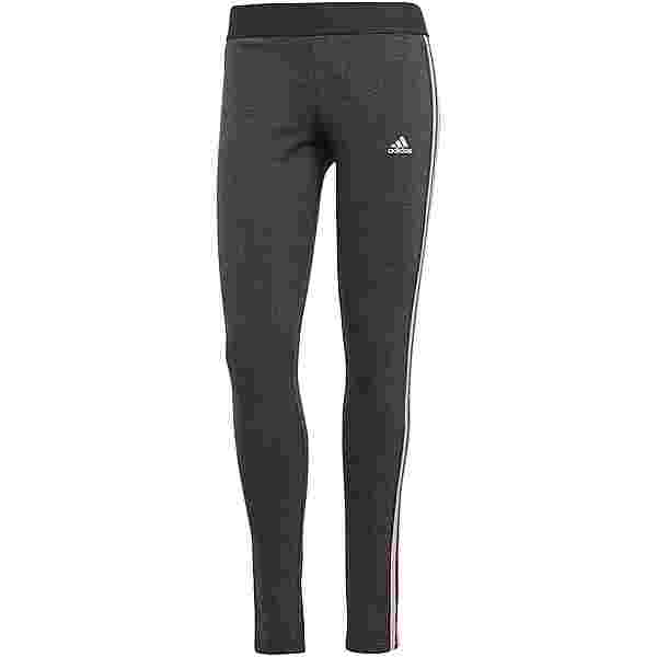adidas 3-STRIPES SPORT ESSENTIALS Sweathose Damen dark grey heather-clear pink