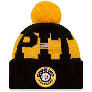 New Era Pittsburgh Steelers Bommelmütze official team colour