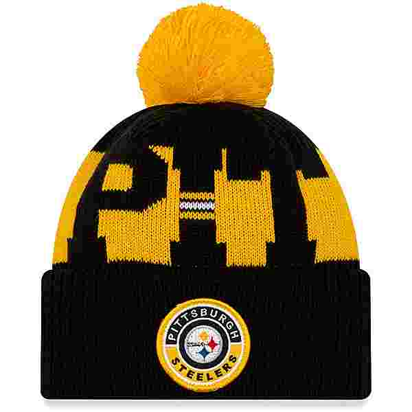 New Era Pittsburgh Steelers Bommelmütze official team colour