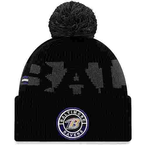 New Era Baltimore Ravens Bommelmütze official team colour