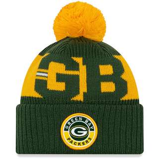 New Era Green Bay Packers Bommelmütze official team colour