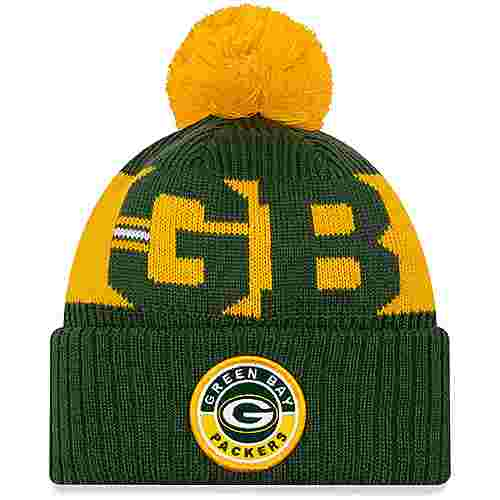 New Era Green Bay Packers Bommelmütze official team colour