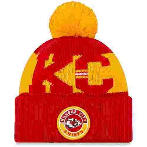 New Era Kansas City Chiefs Bommelmütze official team colour