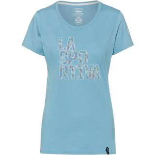La Sportiva Pattern T-Shirt Damen Pacific Blue
