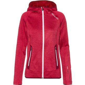 ORTOVOX Merino FLEECE SPACE DYED Fleecejacke Damen hot coral blend