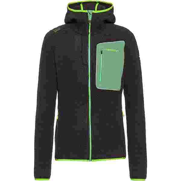 La Sportiva Agon Strickfleece Herren carbon-jasmine green
