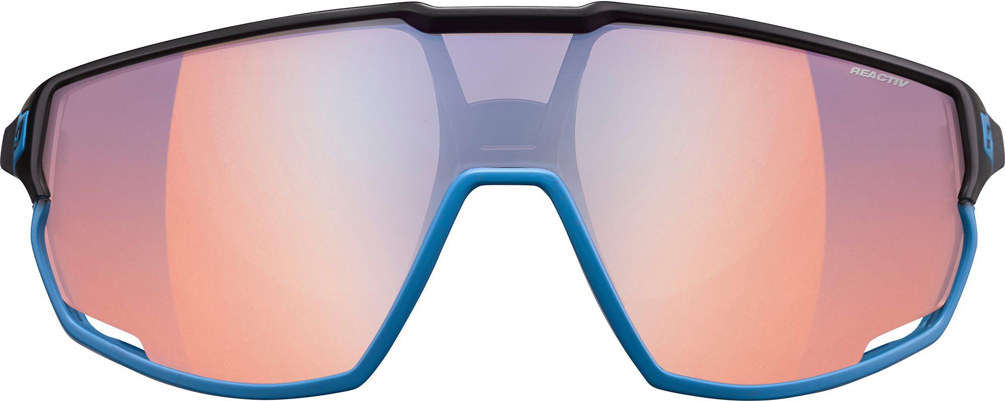 Artikel klicken und genauer betrachten! - Julbo RUSH. Helmkompatible Sportbrille aus Polycarbonat; perfekt belüftete Scheiben dank Full Venting; maximales seitliches und vertikales Sichtfeld; 3-fach anpassbare Grip-Tech-Bügel, die sich unter jedem Helm tragen lassen; selbsttönende Reactiv-Photochromic-Scheiben; Sonnenschutz Kategorie 3; 3D-Fit-Nose-Nasenauflagen für einen sicheren Sitz.   im Online Shop kaufen