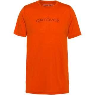 ORTOVOX Merino 185  1ST LOGO Funktionsshirt Herren desert orange