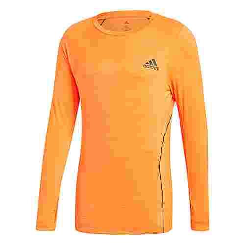 adidas Runner Longsleeve Funktionsshirt Herren Orange