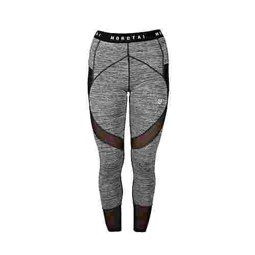 MOROTAI Mesh Performance Tights Leggings Damen Grau Melange