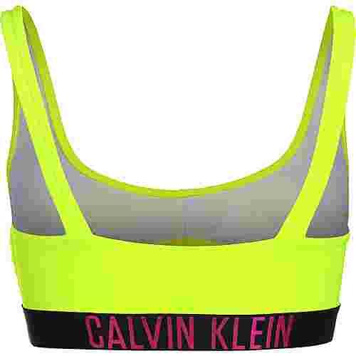 Calvin Klein Swimwear Cut out Bikini Oberteil Damen neon/gelb