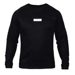 MOROTAI Small Bloc Logo Sweatshirt Longsweat Herren Schwarz