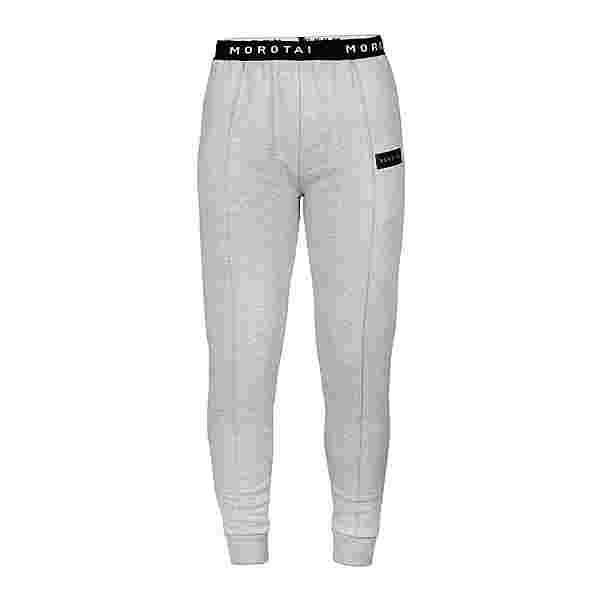 MOROTAI Cropped Pleat Pants Sweathose Damen Hellgrau