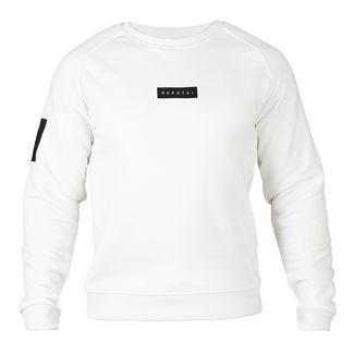 MOROTAI Small Bloc Logo Sweatshirt Longsweat Herren Cremeweiß