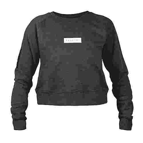 MOROTAI Large Bloc Logo Sweatshirt Longsweat Damen Dunkelgrau