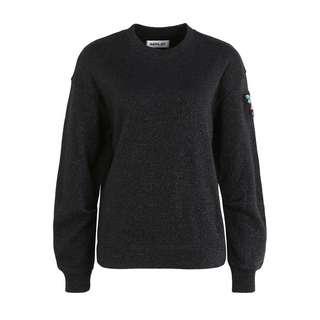 REPLAY mit Glitzer Sweatshirt Damen schwarz