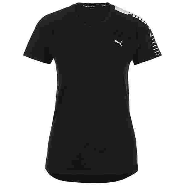 PUMA Logo Raglan Funktionsshirt Damen schwarz