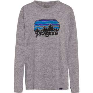 Patagonia Cap Cool Daily Graphic Langarmshirt Damen Fitz Roy Far Out: Feather Grey