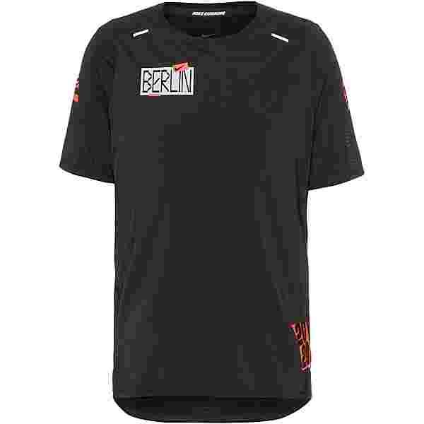Nike Rise 365 Funktionsshirt Herren black