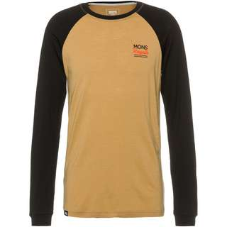 Mons Royale Merino The Go To Raglan Funktionsshirt Herren black / desert